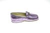 loafer, Jeanne, calfskin, line loup, slipper, mors, metallic pink, kids, Timeless Collection