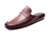 Line Loup, bordeaux, calfskin, men, indoor slippers, Jacques