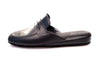 indoor slipper, black, calfskin, men, Jacques, Line Loup