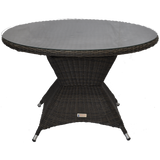Outdoor Wicker Round Dining Table 120cm