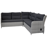 ARMADALE - Recliner Corner Lounge with Ottomans
