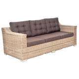 BEAUMARIS - 3 Seat Luxury Outdoor Wicker Wide Armrest Sofa