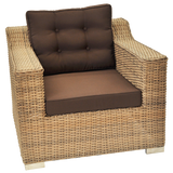BEAUMARIS - Luxury Outdoor Wicker Wide Armrest Sofa