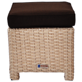 CAMBERWELL - Outdoor Wicker Ottoman Footstool