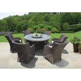 Richmond 8 Piece Outdoor Wicker Dining Set - DECOR STAR