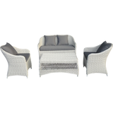 Preston 4 Seater Outdoor Wicker Lounge Set