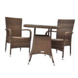 Donvale 3 Piece Outdoor Wicker Coffee Set - DECOR STAR