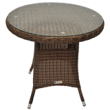 DONVALE - Balcony Patio Wicker Round Coffee Table