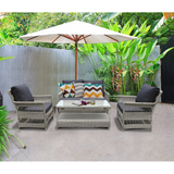 Eaglemont 4 Seater Outdoor Wicker Lounge Set - DECOR STAR