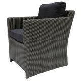 ELWOOD - Outdoor Synthetic Wicker Single Seater Sofa