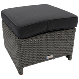 ELWOOD - Outdoor Wicker Ottoman Footstool