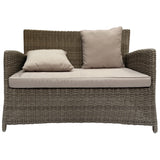 GLEN IRIS - Outdoor Wicker Double Seater Sofa