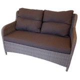 MONT ALBERT - Outdoor Wicker Double Seaters Sofa