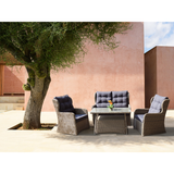 Toorak 4 Seater Outdoor Wicker Lounge Set - DECOR STAR
