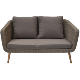 VERMONT - Outdoor Timber/Wicker Double Seater Sofa