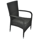 NIDDRIE - Outdoor Wicker Stacking Armchair