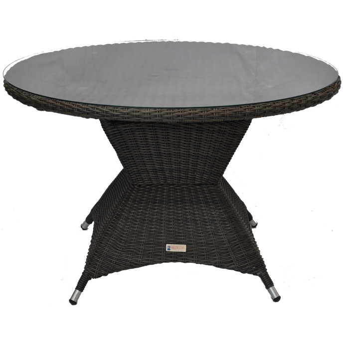 PRE-ORDER Outdoor Wicker Round Dining Table 120cm - Furniture Star Direct