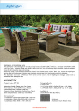 PRE ORDER: ALPHINGTON - Quality 5 Seaters Outdoor Wicker Large Rectangle Table Dining Set - Furniture Star Direct
