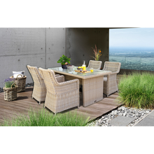 ASHBURTON - 5 Piece Outdoor Wicker Rectangle Table Dining Set