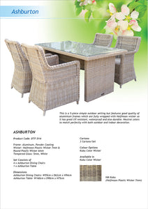 Ashburton 5 Piece Outdoor Wicker Dining Set Flyer