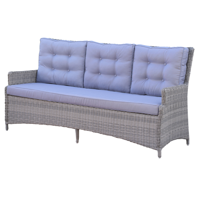 PRE-ORDER ALPHINGTON - 3 Seater Outdoor Wicker Sofa - Furniture Star Direct