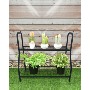 BAYSIDE - 2 Tiers Plant Stand Pot Planter Rack Garden Flower Display Shelf Storage - Furniture Star Direct