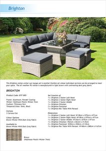 Brighton 8 Seater Outdoor Wicker Lounge Set Flyer
