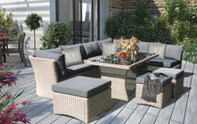 BRIGHTON - 8 Seater Outdoor Wicker Rectangle Dining Set