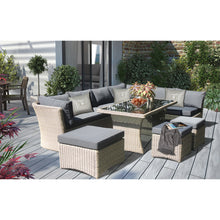 Brighton 8 Seater Outdoor Wicker Lounge Set