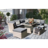 Brighton 8 Seater Outdoor Wicker Lounge Set - DECOR STAR