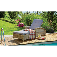 BULLEEN - Luxurious Outdoor Wicker Adjustable Sun Lounge