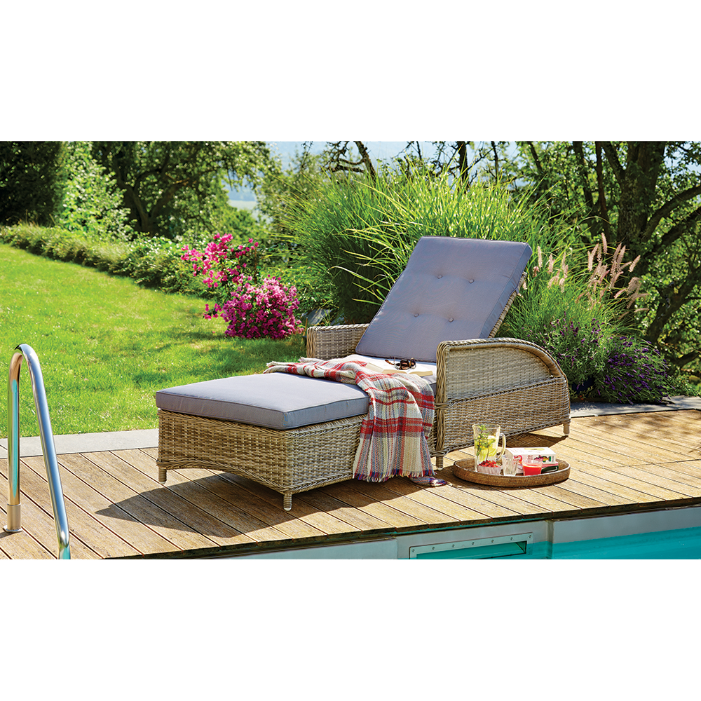 PRE-ORDER: BULLEEN - Luxurious Outdoor Wicker Adjustable Sun Lounge - Furniture Star Direct