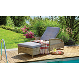 Bulleen Outdoor Pool Spa Wicker Adjustable Sun Lounge - DECOR STAR