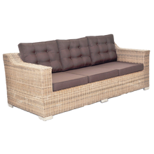 Beaumaris Outdoor Wicker Triple Seater Sofa