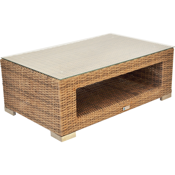 BEAUMARIS - Luxury Outdoor Wicker Rectangle Coffee Table - Furniture Star Direct
