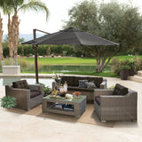 Beaumaris 5 Seater Outdoor Wicker Lounge Set - DECOR STAR