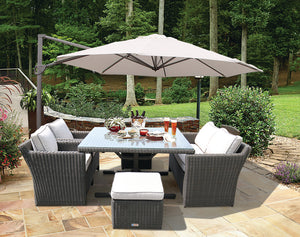 Carlton 6 Seater Outdoor Wicker Dining Set