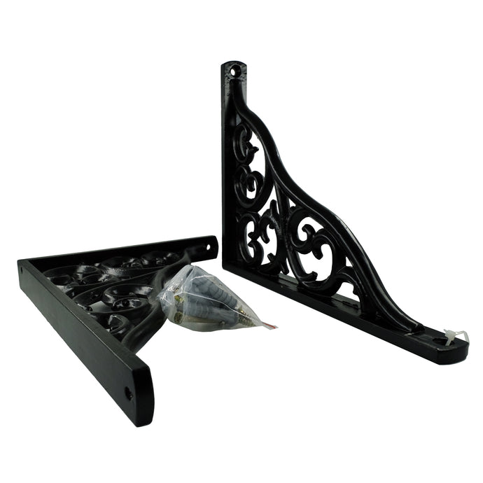 2x CLASSIC BAROQUE 1519 - Bookshelf brackets with hardware