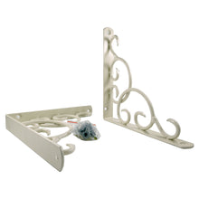 2x CURLY 190 - Wall Mounted Shelf Brackets with hardware