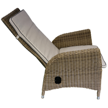 KEW - Outdoor Wicker Recliner Highback Armchair with Footstool - Furniture Star Direct