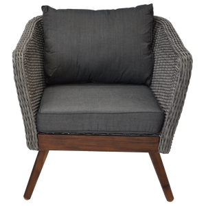 Mornington Outdoor Timber Wicker Single Seater Sofa