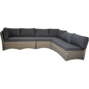 PRE-ORDER BRIGHTON - 8 Seater Outdoor Wicker Lounge with Ottomans - Furniture Star Direct