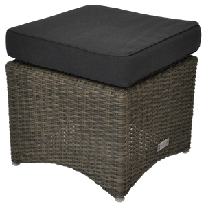 BRIGHTON - Outdoor Wicker Ottoman Footstool