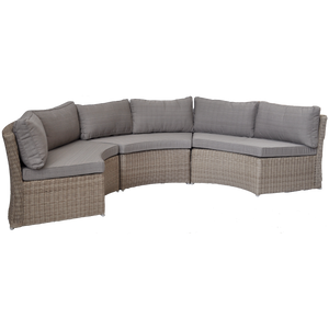 MALVERN - 6 Seater Outdoor Wicker Modular Lounge Sofa - Furniture Star Direct