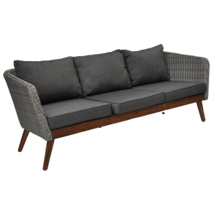 Mornington Outdoor Timber Wicker Triple Seater Sofa