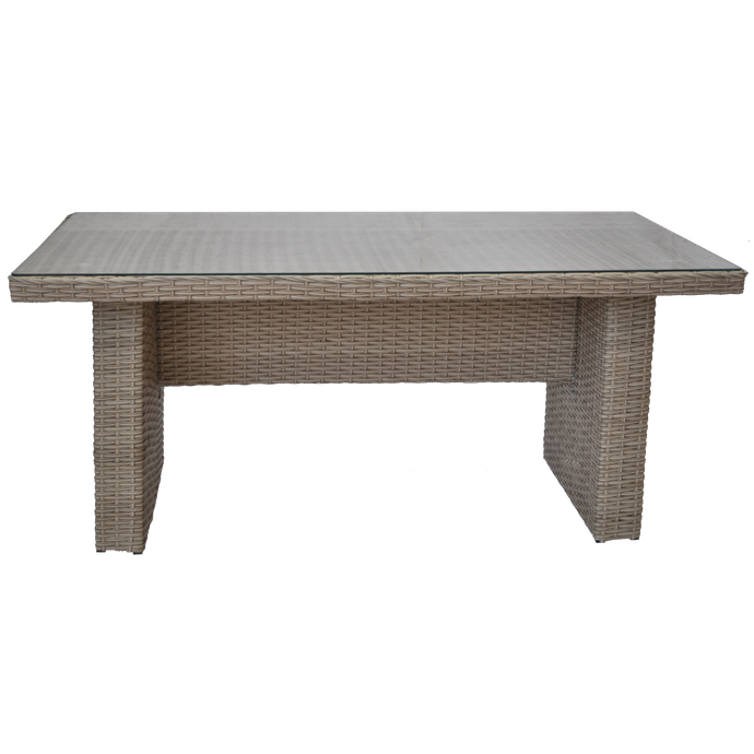 CAMBERWELL - Outdoor Synthetic Wicker Rectangle Dining Table - Furniture Star Direct