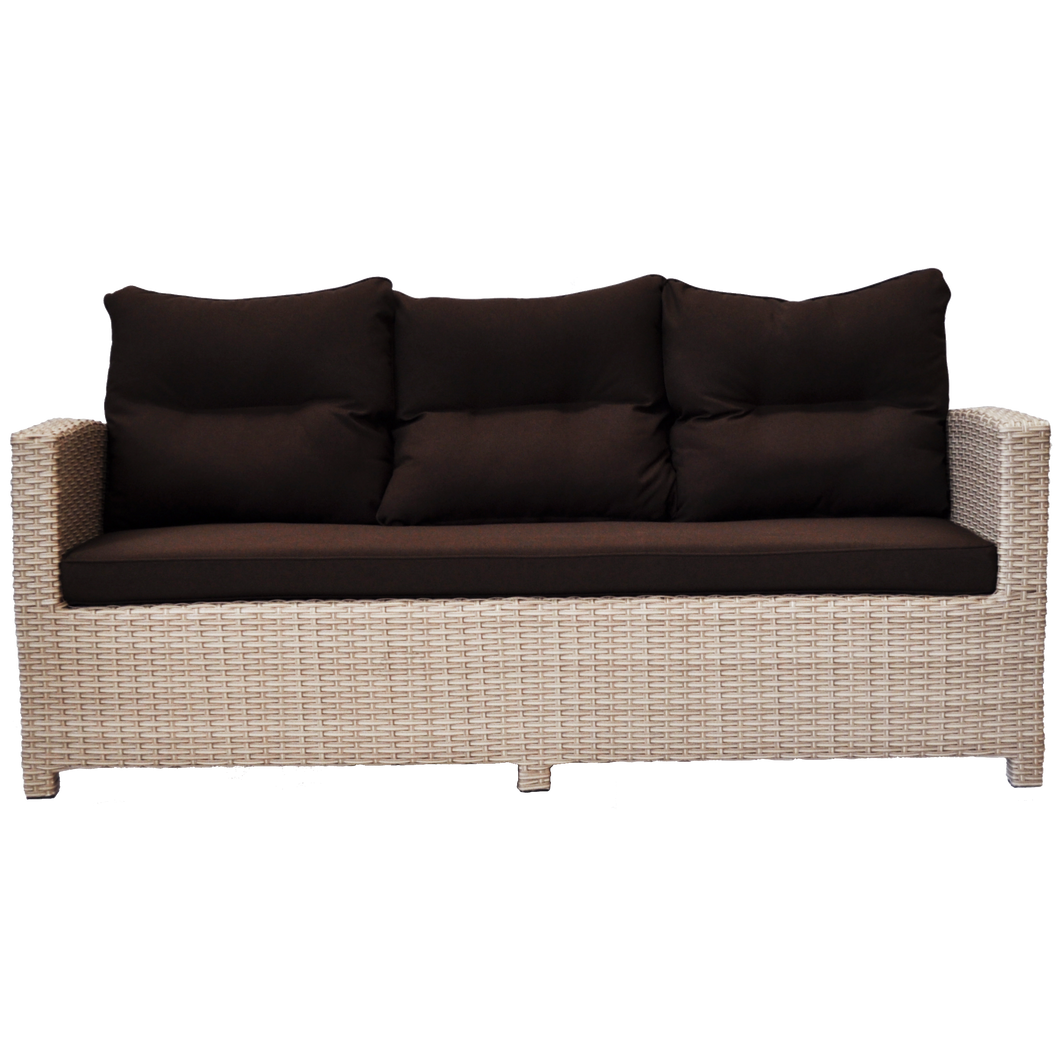 PRE-ORDER CAMBERWELL - 3 Seater Outdoor Wicker Sofa - Furniture Star Direct