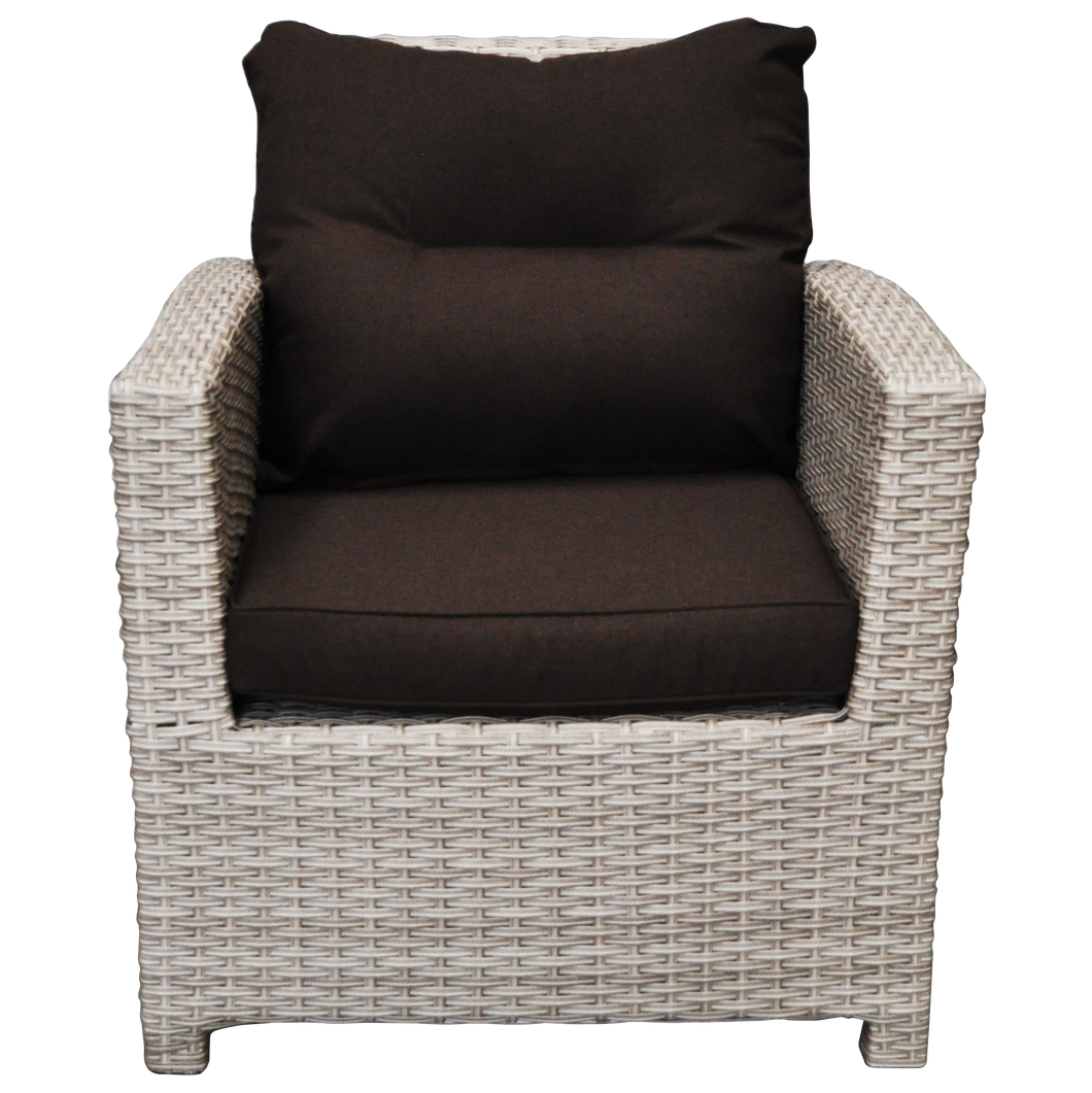 PRE-ORDER CAMBERWELL - Single Seater Outdoor Wicker Sofa - Furniture Star Direct