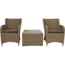Epping 3 Piece Outdoor Wicker Coffee Lounge Set