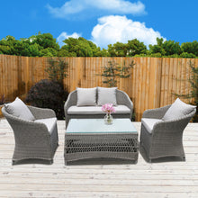 Preston Outdoor Wicker Lounge Set